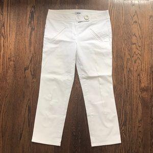 Cropped White Moschino Pants
